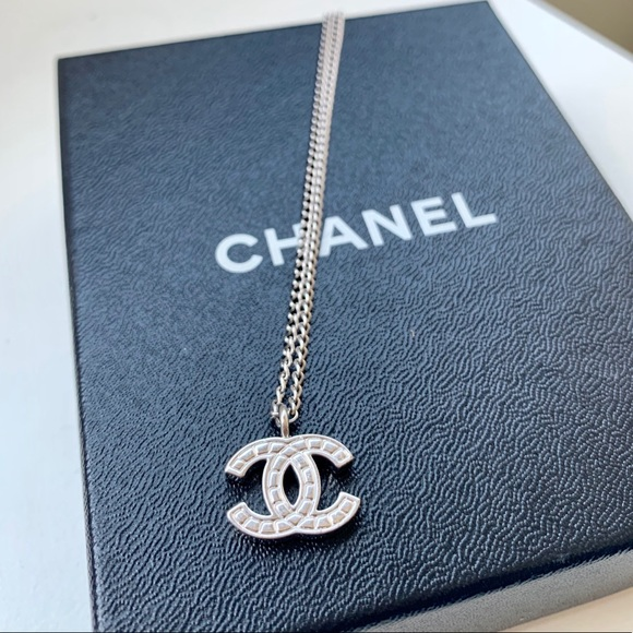 b155191da49 CHANEL Jewelry | Silver Motif Cc Pendant Necklace | Poshmark